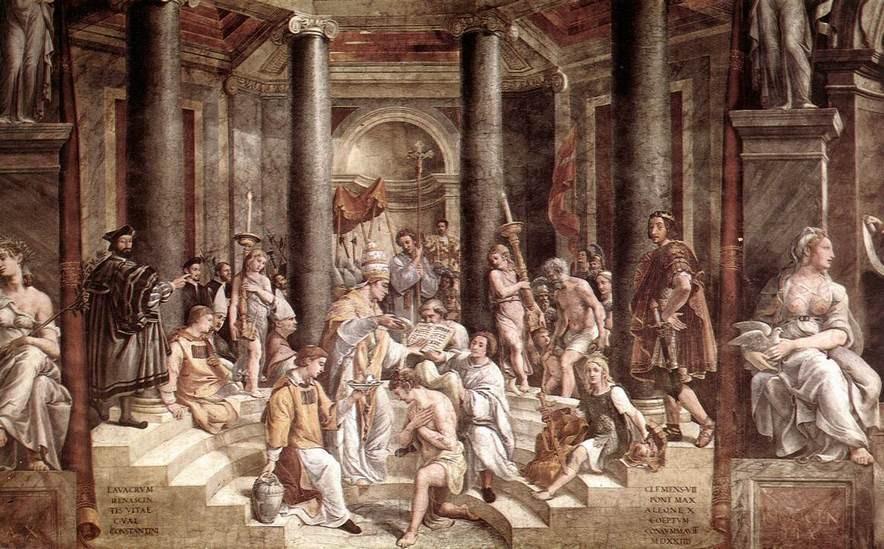 Constantinus megkeresztelkedése