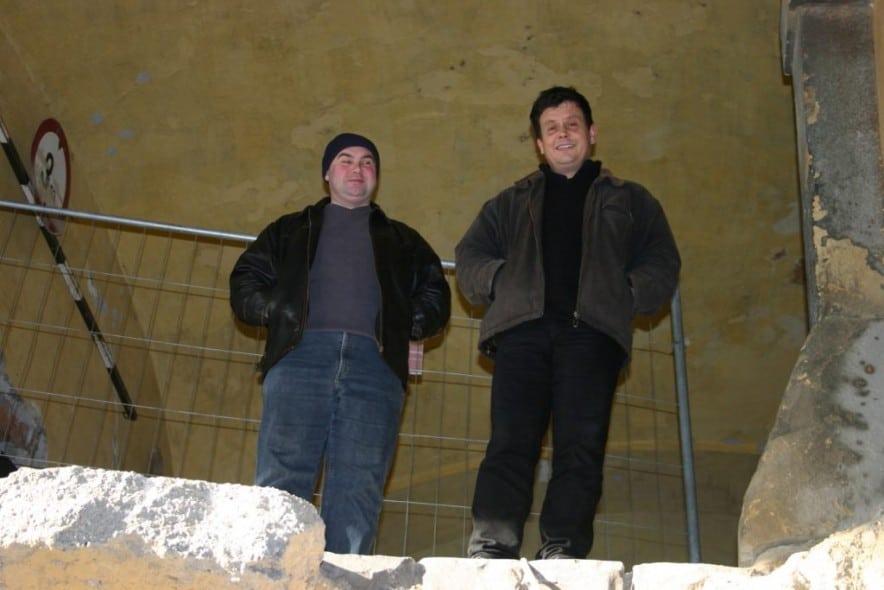 Tóth Zsolt és Pozsárkó Csaba a Cella Septichora ásatásán